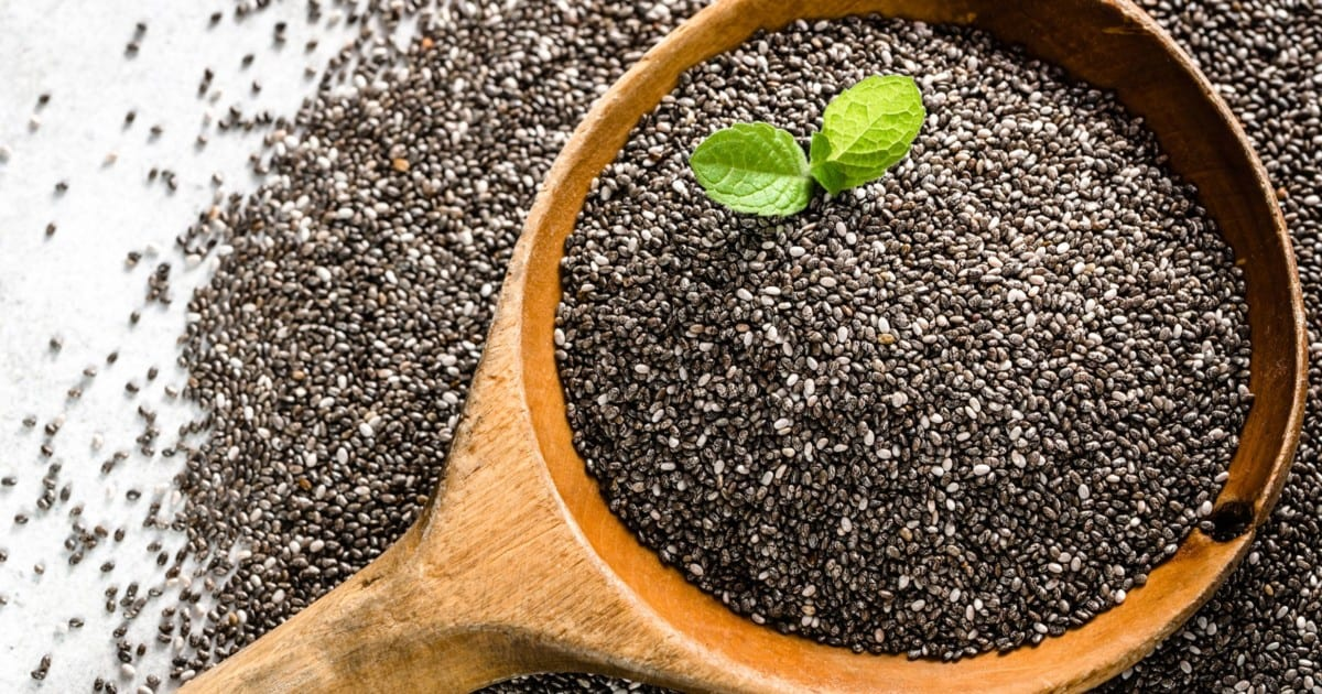 chia seeds on a table