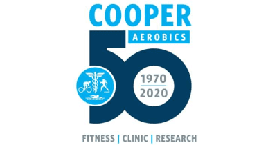 Logo depicting Cooper Aerobics History and 50th anniversary 1970-2020