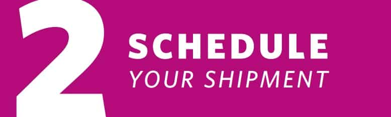 Graphic of Cooper Complete auto delivery subscription program that reads Step 2 Schedule Your Shipment