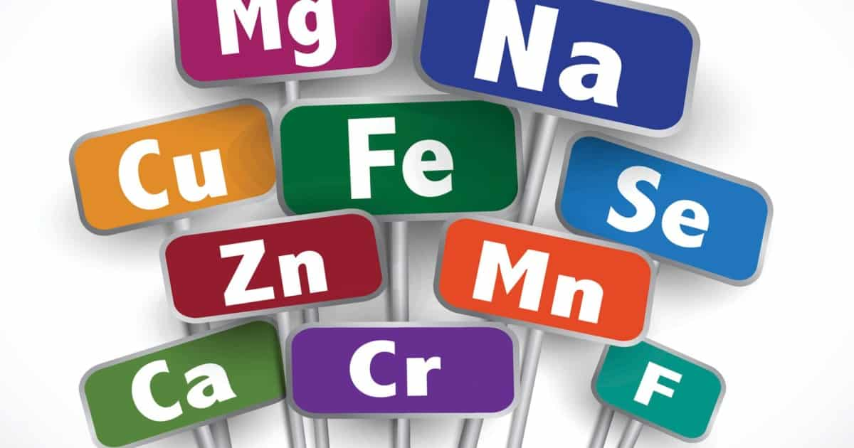 Elemental Minerals found in supplements display signs