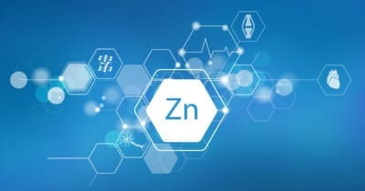 Photo of Zinc elemental icon for heart, bone and immune health icons