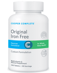 Cooper Complete Original Iron Free Multivitamin and Mineral Supplement Bottle