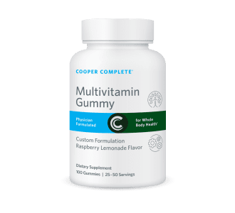 This multivitamin gummy comparison compares Cooper Complete Multivitamin Gummy to four other brands